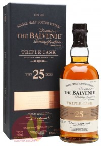 Виски Балвени Трипл Каск 25 лет, 0,7л, 40% Whiskey Balvenie Triple Cask 25 y.o. 70 cl Шотландия