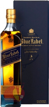 Виски Блю Лейбл, Джонни Уолкер 25 лет, 0,75мл, 43% Whiskey Blue Label, Johnnie Walker 25 y.o. Шотландия