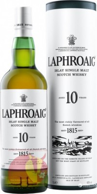 Виски Лафройг 10 лет,  1 л 40% Laphroaig 10 YO Scotch Whisky